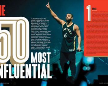 Drake Is One Of The 50 Most Influential People [TORONTO LIFE]